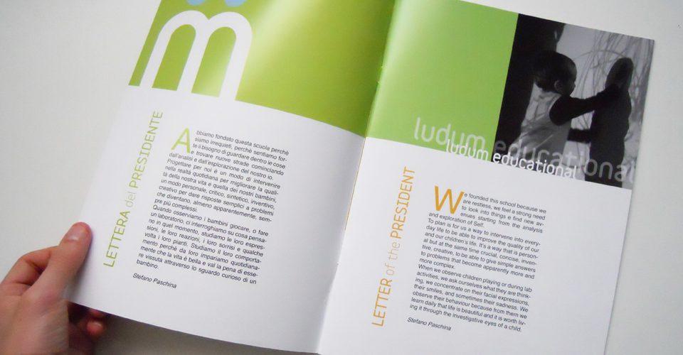 Progettazione grafica Brochure Ludum