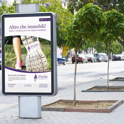 Campagna pubblicitaria Bergamo per Pielle Immobiliare